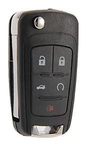 vouwen sleutel met afstandsbediening geval shell fob 5 knoppen voor Chevrolet Camaro cruze