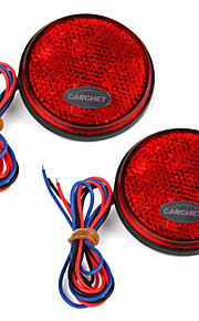 2 x carchet auto ronde rood rem stop staart achterlicht lamp high power