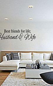 4084   LIFE Inspirational Quotes Removable Cute Art Characters Writing Vinyl PVC Decal Wall Sticker Home Decor