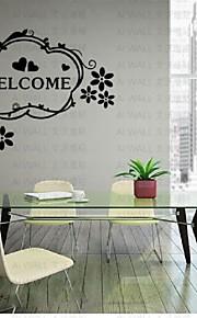 Welcom Wall Sticker, Mural Decal Cabinet Furniture Door Window Paster Art Home Kitchen Decor Living Room Bedroom