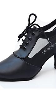 Sapatos de Dança(Preto) -Feminino-Personalizável-Latina / Jazz / Moderna / Salsa / Samba / Sapatos de Swing