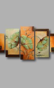 """estirada (listo para colgar) pintura al óleo pintado a mano 60 flores modernas """"x32"""" arte de la pared de tela color beige verde"""