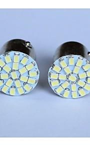 T20 / T25 / 1156/1157 luce 1206-22smd coda dell'automobile luce di stop svolta retromarcia indicatore laterale lampada azzurro bianco
