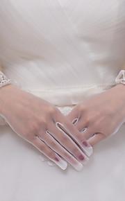 До запястья С открытыми подушечками пальцев Перчатка Кружева / Тюль Свадебные перчатки / Вечерние перчатки