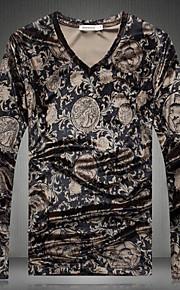 T-shirt Uomo Casual Con stampe Manica lunga Poliestere
