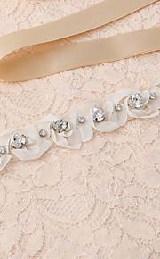Satin Mariage / Fête/Soirée / Quotidien Ceinture-Appliques / Perles / Fleur / Strass Femme 250cm Appliques / Perles / Fleur / Strass