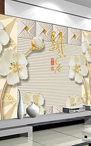 아트 데코 벽지 콘템포라리 벽 취재,기타 Wallpaper Flowers Large Mural Reliefs