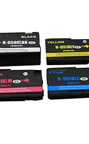 BLOOM®950XLBK+951/C/M/Y Compatible Ink Cartridge For HP Officejet Pro 8100/8600/251dw/276dw Full Ink(4 Color of 1 Set)