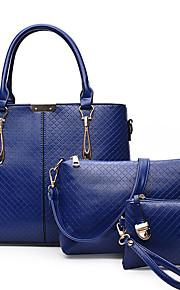 Синий / Золотистый / Красный / Черный-Сумка на плечо / Сумка-шоппер / Сумка-портфель-Для женщин-Полиуретан-Бочонок