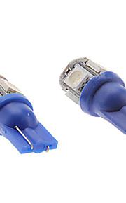 2 stuks 2016year hete verkopende 12v 5W blauwe led t10 geleid side marker licht, LED leeslamp, kentekenplaatverlichting