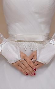 До запястья С открытыми пальцами Перчатка Кружева / Тюль Свадебные перчатки / Вечерние перчатки