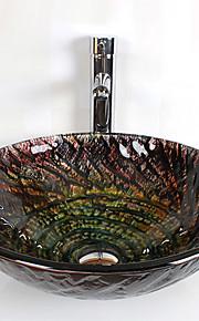 Conjunto de Pia de Banheiro- DEVidro Temperado-Contemporâneo(Vidro Temperado)