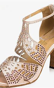 Sapatos de Dança(Preto / Rosa / Vermelho) -Feminino-Personalizável-Latina / Jazz / Salsa / Samba / Sapatos de Swing