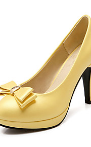 Желтый / Зеленый / Фиолетовый-Женская обувь-Для праздника / Для вечеринки / ужина-Дерматин-На шпильке-На каблуках / На платформе / С