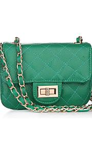 Зеленый-Сумка на плечо-Для женщин-Яловка-Сумочка Багет