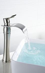 Becken Einhand Ein Loch in Gebürsteter Nickel Waschbecken Wasserhahn