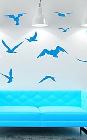חיות / רומנטיקה / אופנה / אבסטרקט / פנטזיה מדבקות קיר מדבקות קיר מטוס,PVC M:42*47cm/ L:55*60cm