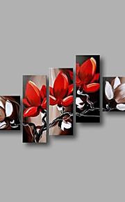 """estirada (listo para colgar) pintura al óleo pintado a mano 78 flores modernas """"x40"""" arte de la pared de la lona magnolia rojos"""