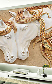 JAMMORY Art Deco Wallpaper Luxury Wall Covering,Other A Large Mural Wallpaper Embossed Horse