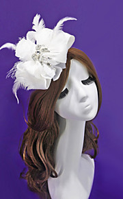 Satin / Lace / Feather / Rhinestone / Fabric / Net Headpiece-Wedding / Special Occasion / Outdoor Flowers
