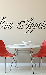 AYA™ DIY Wall Stickers Wall Decals, Bon Appetit Words & Quotes PVC Wall Stickers
