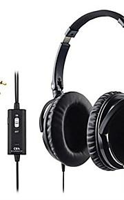 cs anc1 aktiv støyreduserende hodetelefoner med mikrofon sammenleggbar over øret hifi støyisolering headset