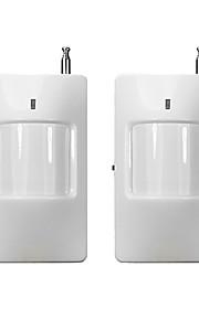 2pcs / lot senza fili a infrarossi sensore PIR rilevatore di movimento 433mhz compatibile solo con il sistema di allarme del fornitore