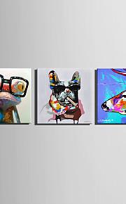 ミニサイズe-ホーム油絵現代のファッションの動物の純粋な手は、フレームレス装飾画を描きます