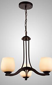 MAX60W Traditionnel/Classique Style mini Peintures Métal Lustre Salle de séjour / Chambre à coucher / Cuisine