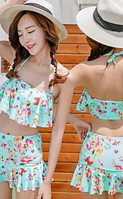 Damen Bikinis / Tankinis - Floral Gepolsterte BHs Elasthan Bandeau