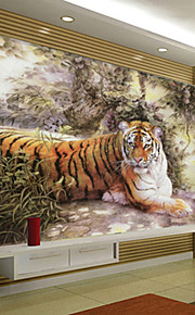 아트 데코 벽지 클래시칼 벽 취재,기타 Large Mural Wallpaper Tiger