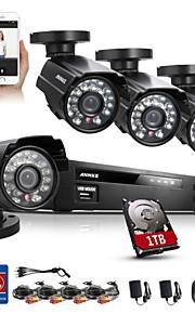 annke kit de segurança DVR 800tvl 8ch 960H HDMI ir casa sistema de segurança câmera de CCTV ao ar livre à prova de intempéries