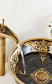 Mittellage Einhand Ein Loch in Antikes Messing Waschbecken Wasserhahn