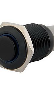 16mm 12v blauwe led aan / uit drukknoppen schakelen claxon voor auto-auto black