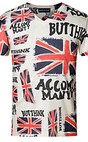 T-shirt Uomo Casual Con stampe Manica corta Cotone