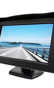 4.3 inch parasol TFT-LCD auto achteruitkijkspiegel-monitor met stand achteruit back-up van hoge kwaliteit