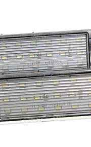 2pcs re-Nault megane twingo kombi Laguna II licencia de alumbrado de la placa llevado 12v 14w llevó con decodificador llevada especial
