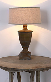 Amercian Countryside Vintage Wooden Material Table Lamp Decorate in the Foyer / Study Room / Bedroom  Dest  Lamp