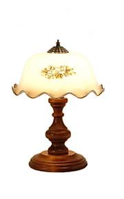 Lampes de bureau-Rustique/Campagnard-Bois/bambou-Arc