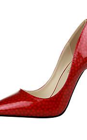 Chaussures Femme-Bureau & Travail / Décontracté-Rose / Rouge / Gris / Orange / Amande-Talon Aiguille-Talons / Bout Pointu / Bout Fermé-