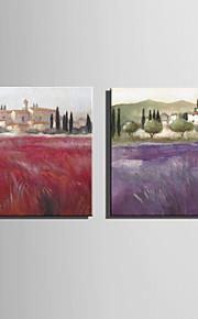 ミニサイズe-ホーム油絵現代的な田園風景の純粋な手は、フレームレス装飾画を描きます