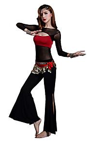 Belly Dance Outfits Women's Training Modal Criss-Cross 2 Pieces Black / Fuchsia / Burgundy