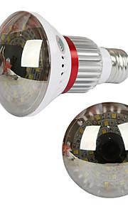 eazzydv trådløs pære wifi kamera med varmt lys og spejl cover