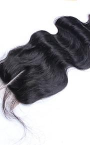 """8 """"-20"""" elin aalto pitsi sulkemiseen Brasilian neitsyt hiukset top pitsi sulkemisen luonnollinen väri vapaa / keski 3part sulkeminen"""