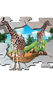 Dyr / Botanisk / Tegneserie / Romantik / Mote / Højtid / Landskap / Former / Transport / fantasi / 3D Wall Stickers 3D mur klistermærker,
