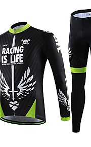 miesten ammatillinen pyöräily pitkähihainen paita polkupyörä hengittävä kuivuu nopeasti jersey + pyörä 3d tyyny pad housupuku