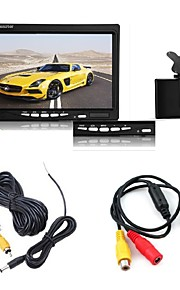 "7 ""TFT LCD-monitor auto + achteruitrijcamera back-night vision camera parkeerplaats kit"