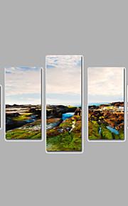 Paisagem Impressão em tela Mais que 5 painéis Pronto para pendurar,qualquer Forma