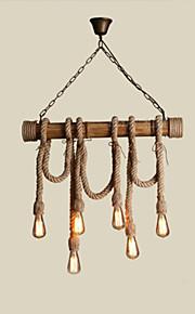 40W Campestre Mini Estilo Otros Madera/Bambú Lámparas ColgantesSala de estar / Dormitorio / Comedor / Habitación de estudio/Oficina /
