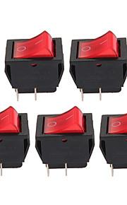 5 x rood aan-uit knop 4-pins tuimelschakelaar auto voertuig DIY hoge kwaliteit